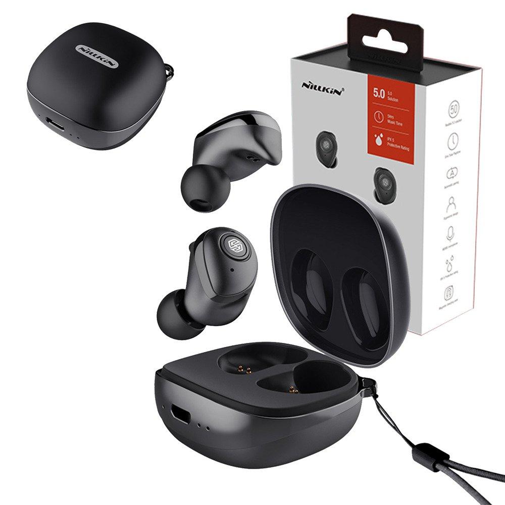 Słuchawki bezprzewodowe Bluetooth z dokującym powerbankiem Nillkin GO TWS (Czarne)
